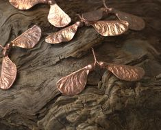 Double maple seed pendant, electroformed, botanical jewelry, electroforming, nature inspired, electroplated, copper electroform,elven elvish