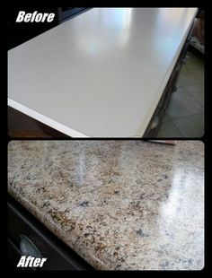 The Homestead Survival | Make Your Old Counter Top Look Like New Granite  For Around 20 · Faux Marble CountertopPainting ...