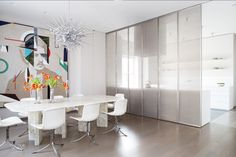 Refined Materials and Stellar Art Rule in an Apartment by Gluckman Tang and Nina Seirafi