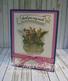 Stampin' Studio - Page 6 of 677 - Tina Rappe, Independent Stampin' Up! Thanks Card, Stamp Sets, Stampin Up Cards, Your Cards, Thank You Cards, Baskets, Encouragement, Catalog, Card Making