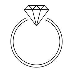 17 Elegant Wedding Ring Sketch Drawing And Coloring Pages