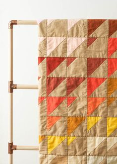 Prism Quilt In Spectrum Cotton | Purl Soho #purlsoho #quilting #crafting