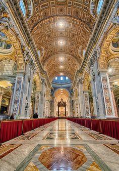 Saint Peter's Basilica - Papale Basilica Maggiore di San Pietro in Vaticano. by Dawid Martynowski, via 500px
