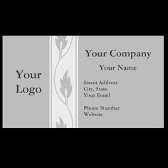Professional gray leaf business cards