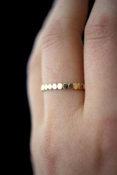 Two Tone Gold Diamond Engagement Ring Set Unique Bridal Set Floral Diamond Ring Wedding Set - Fine Jewelry Ideas - Thick bead stacking ring in gold fill. A fantastic addition to your stacking ring collection. Engagement Ring Rose Gold, Diamond Wedding Bands, Wedding Rings, Ruby Wedding, Oval Engagement, Wedding Gold, Wedding White, Wedding Set, Zierlicher Ring