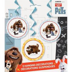 "26"" Hanging The Secret Life of Pets Decorations, 3ct, Counting - Amazon Canada"