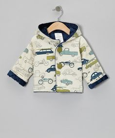 Take a look at this Navy Minky Dot Car Hooded Jacket - Infant & Toddler by Chooty & Co. on #zulily today!