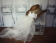 wedding cowgirl hatbride to bewestern by MorganTheCreator on Etsy