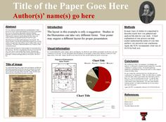 Texas Tech University - Teaching, Learning, and Professional Development Center: Presenting Conference Papers and Posters in the Humanities