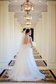 Formal Bridal Portraiture at Notre Dame's Morris Inn