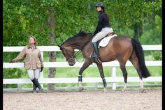 My childhood equestrian IDOL, Katie (Monahan) Prudent, schooling Reed Kessler at Spruce Meadows 2012.
