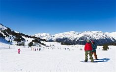 Soldeu in the Pyrenees is the best in the world for British beginners. The vast majority of the teachers are native English speakers and tend to have smaller class sizes than in the Alps yet charge considerably less.