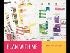Plan With Me: March 13 19, 2017 {Classic Happy Planner® Style!} - YouTube