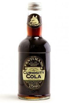 Fentiman's curiosity cola. Tastes like ginger ale coke and root beer all in one. Botanically brewed and delicious.