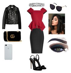 Grace's style by grace-karali on Polyvore featuring polyvore, fashion, style, Roland Mouret, Yves Saint Laurent, Giuseppe Zanotti, Gucci, ETUÍ, Too Faced Cosmetics and clothing