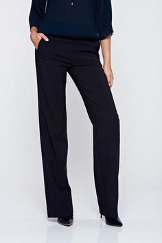 Pantaloni PrettyGirl negri drepti office cu buzunare - http://hainesic.ro/pantaloni/pantaloni-prettygirl-negri-drepti-office-cu-buzunare-b2288772b-starshinersro/