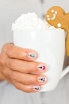 the cutest mani for the holidays by our friends at Olive