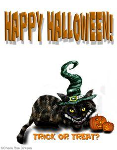 Happy Halloween ecard #FREEhalloweenecards #Halloween #blackcat