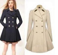 2015 otoño y primavera mujeres capa delgada de la mujer de mezcla medio largo doble ropa de abrigo trench mujeres visten capa en Trencas de Moda y Complementos Mujer en AliExpress.com | Alibaba Group