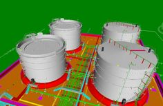Piping Detailed Engineering with modeling of Tank Farm area for a Refinery. Piping And Instrumentation Diagram, Industrial Design, Engineering, 3d Modeling, Projects, Fire, Detail, Log Projects, Blue Prints