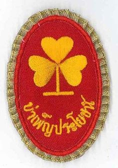 PAIR NO SIGN GIRL SCOUTS SCOUTS OF THAILAND GUIDES Epaulettes Patch
