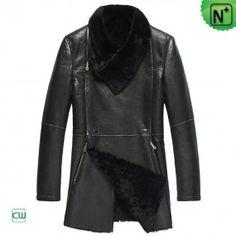 Fur Leather Coat CW868001 -  m.cwmalls.com