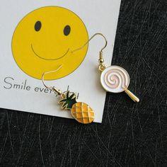 cute pineapple drop earrings