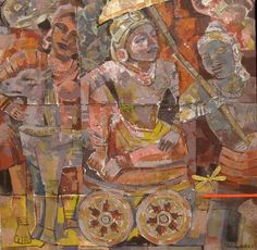 Dolna code: ASM001 Ankor Vat I by Ashoke Mullick. Acrylic on canvas, 36 x 36 (inches), Price INR 2,25,000 Browse www.dolna.in to buy awesome original art.