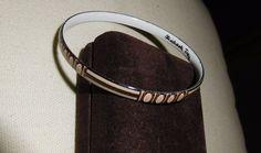 Vintage Michaela Frey Signed Enamel Bangle Bracelet Vienna