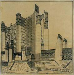 futuristic architecture - Città Nuova project that will never materialize