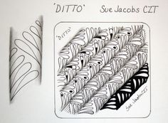 """Ditto"" ~ a new tangle pattern from #CertifiedZentangleTeacher Sue Jacobs #CZT"