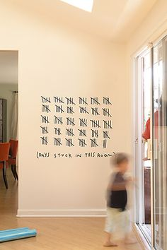 The Funbus Days Stuck in this Room Wall Decal by Blik