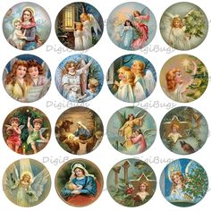 Christmas Angels and Saints Digital Collage Sheet 1 by DigiBugs