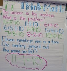 Mrs Jump's class: think math