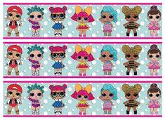 "EDIBLE LOL Surprise Dolls Cake Strips Birthday Party Wafer Paper Sheet (2.4x10"") diy idea ideas decor decorating decortion decorations"