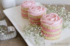 Mini Valentine's Day Naked Rosette Cakes