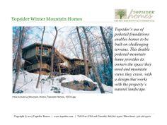 Topsider Winter Mountain Homes Slideshow via Slideshare