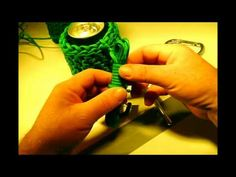 ▶ How to Make a * COOL PARACORD CAN or WATER BOTTLE COOZIE Part #2 - YouTube