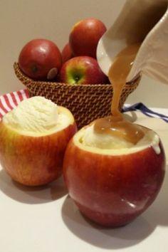 Apple sundae