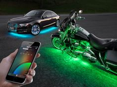 World's coolest way to shine your night rides, easiest way to find where you're parked, and safest way to enhance the brake signal.