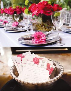 {Modern Chic} Silver and Pink Bridal Shower