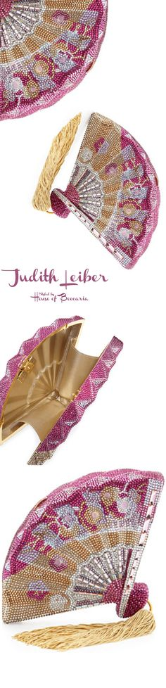 ~Judith Leiber Fluttering Crystal Fan Minaudiere | House of Beccaria
