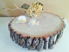 11  Thick Rustic wedding cake stand  Wood tree by JTLCREATIONS