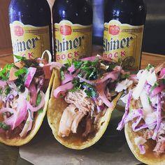 Perfect!! House Smoked Chicken tacos! (With Aji Slaw pico and Salsa roja)- 3 for $9.50 at Boca 31 Get it while it lasts! Happy Saturday! #smokedchickentacos #boca31 #dentonslacker #denton #dentoning #UNT #TWU #foodporn #chefslife #wedentondoit #dentoneats #dentonproud #boca31 #latinflavors #visitdenton #welovedenton #tacos