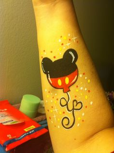 Are you new to face painting? Welcome to a fun adventure that provides a little bit of simple joy to everyone! Mickey Mouse Face Painting, Disney Face Painting, Face Painting For Boys, Leg Painting, Face Painting Designs, Mickey Tattoo, Mickey Mouse Tattoos, Mickey Mouse Balloons, Cheek Art