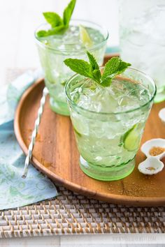 Thirsty for happy hour? Try our DDG Vodka Mojito tonight! Party Drinks, Cocktail Drinks, Fun Drinks, Cocktail Recipes, Alcoholic Drinks, Beverages, Refreshing Cocktails, Drinks Alcohol, Vodka Mojito