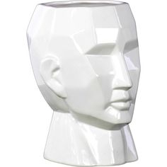 Gloss White Large Face Ceramic Flower Vase - Overstock Shopping - Great Deals on Urban Trends Collection Vases Ceramic Painting, Ceramic Vase, Table Flowers, Flower Vases, Mackenzie Childs Furniture, Mod Furniture, Contemporary Vases, Gadgets, Urban Trends