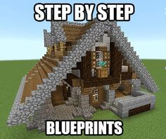 Check this awesome app for making minecraft houses with this app get step by step blueprints for this house plus a bunch more minecraft blueprints by malvernweather