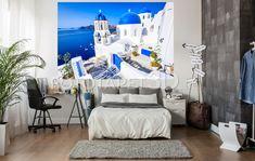 Cauți un fototapet relaxant care să evidențieze personalitatea ta? Vino la FotoTapet 3D.ro și găsești sute de fototapete cu orașe și natură, ideale pentru spațiul tău.  Nu ai găsit dimensiunile care se potrivesc camerei tale? FotoTapet 3D.ro vine în ajutorul tău cu cele mai bune oferte de fototapet personalizat, creat special pentru dimensiunile spațiului tău! Santorini, Bed, Furniture, Home Decor, Photo Wallpaper, Stream Bed, Home Furnishings, Beds, Home Interior Design