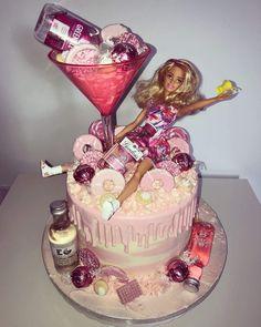 Cake by Sweet Suzie& Glasgow 21st Bday Cake, 18th Birthday Cake For Girls, 19th Birthday Cakes, Barbie Birthday Cake, Funny Birthday Cakes, Pink Birthday Cakes, Adult Birthday Cakes, 21st Birthday, Birthday Beer
